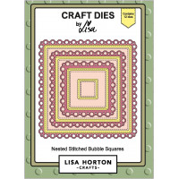 Lisa Horton Crafts - Nested Stitched Bubble Squares Die Set