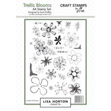 Lisa Horton Crafts - Trellis Blooms A4 Stamp Set