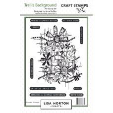 Lisa Horton Crafts - Trellis Background A5 Stamp Set