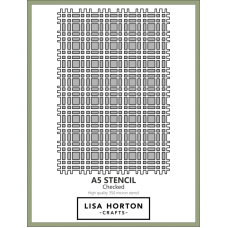 Lisa Horton Crafts - A5 Stencil - Checked