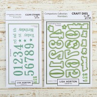 Lisa Horton Crafts - Number Die & Stamp Bundle