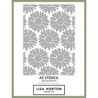 Lisa Horton Crafts - A5 Stencil - Spring Bloom