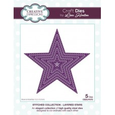 Stitched Collection - Layered Stars Craft Die