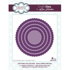 Stitched Collection - Scalloped Circles Craft Die