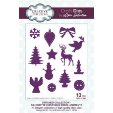 Stitched Collection - Silhouette Christmas Embellishments Craft Die