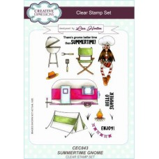 Summertime Gnome A5 Clear Stamp Set
