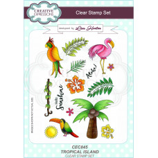 Creative Expressions - Tropical Island A5 Clear Stamp Set - DISPATCHING MONDAY 22nd MARCH