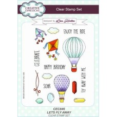 Let's Fly Away A5 Clear Stamp Set + Free Let's Fly Away Pop-ems