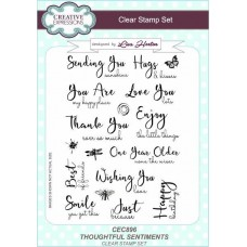 Thoughtful Sentiments A5 Clear Stamp Set