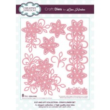 Cut and Lift - Star Flower Set Craft Die