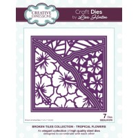 Broken Tiles Collection - Tropical Flowers Craft Die