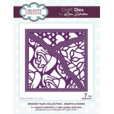 Broken Tiles Collection - Hearts & Roses Craft Die
