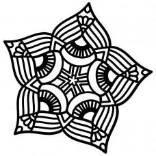 Creative Expressions Mask - Five Point Mandala