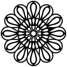 Creative Expressions Mask - Petal Loops Mandala