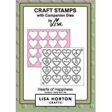 Lisa Horton Crafts - Hearts of Happiness Stamp & Die Set