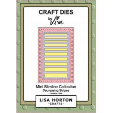 Lisa Horton Crafts - Decreasing Stripes Mini Slimline Die