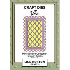 Lisa Horton Crafts - Harlequin Bubbles Mini Slimline Die
