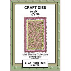 Lisa Horton Crafts - Swirling Daisy Mini Slimline Die