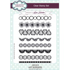 Art Borders - A5 Clear Stamp Set