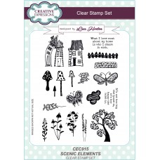 Scenic Elements - A5 Clear Stamp Set