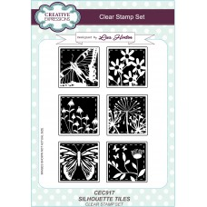 Silhouette Tiles - A5 Clear Stamp Set