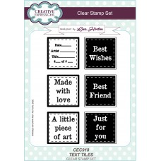 Text Tiles - A5 Clear Stamp Set