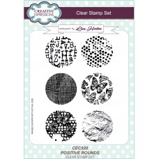 Positive Rounds - A5 Clear Stamp Set