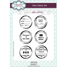 Sign It - A5 Clear Stamp Set