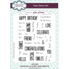 Modern Classic Sentiments - A5 Clear Stamp Set