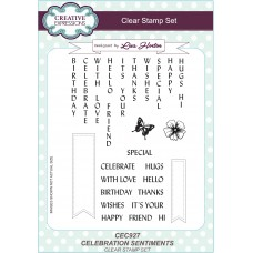Celebration Sentiments - A5 Clear Stamp Set