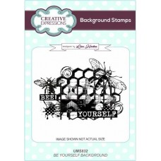 Bee Yourself A6 Background Stamp