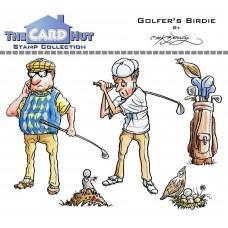 Golfer's Birdie Stamp