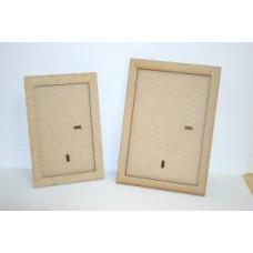 Mdf Rectangular Frames pk 2 (1 each of 7 x 5 & 6 x 4)