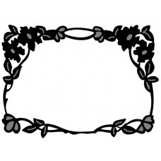 Marianne Design Craftables - Flower Border Rectangle