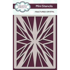 Creative Expressions - Mini Stencil - Fractured Crystal
