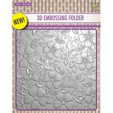 Nellie Snellen 3D Embossing Folder - Flowers 3