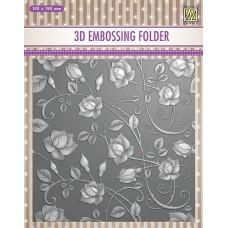 Nellie Snellen 3D Embossing Folder - Roses
