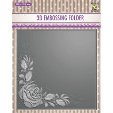 Nellie Snellen 3D Embossing Folder - Rose Corner