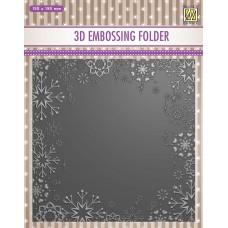 Nellie Snellen 3D Embossing Folder - Snowflake Frame