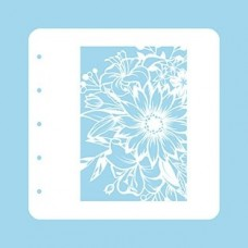 Nellie Snellen Stencil A6 for Magnetic colour set - Flower-1