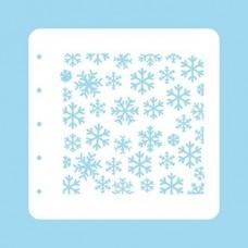 Nellie Snellen Christmas Time A6 Stencil - Snowflakes