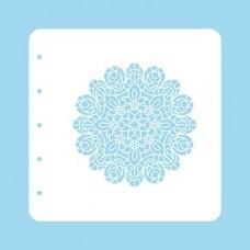 Nellie Snellen Christmas Time A6 Stencil - Mandala