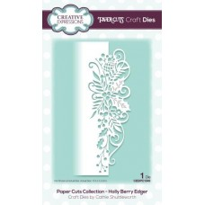 Paper Cuts Collection Holly Berry Edger