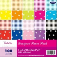Crafts Too Designer Paper Pack - Gingham & Flowers