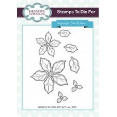 Shaded Poinsettia Additions Stamps