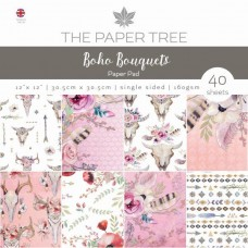 "Paper Tree Boho Bouquets 12"" x 12"" Paper Pad"
