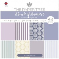 The Paper Tree - A Touch of Romance 8x8 Essentials Pad - A Touch of Purple