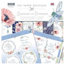 PB Summer in Provence Paper Kit 8x8 Paper Pad & Die Cut Toppers 300gsm