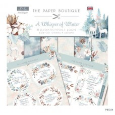 PB A Whisper of Winter Paper Kit 8x8 Paper Pad & Die Cut Toppers 300gsm