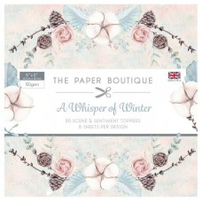 PB A Whisper of Winter Sentiments Pad 5x5 Scene & Topped Pad 150gsm